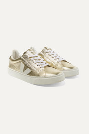 Size 32 - 35 Esplar metallic leather sneakers