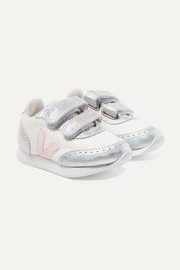 Size 22 - 27 Arcade mesh and iridescent leather sneakers