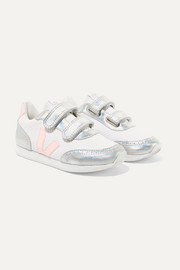Size 28 - 35 Arcade mesh and iridescent leather sneakers