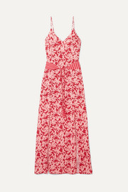 ViX Hermosa Elba printed voile maxi dress