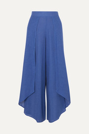 ViX Edna layered linen-blend voile wide-leg pants
