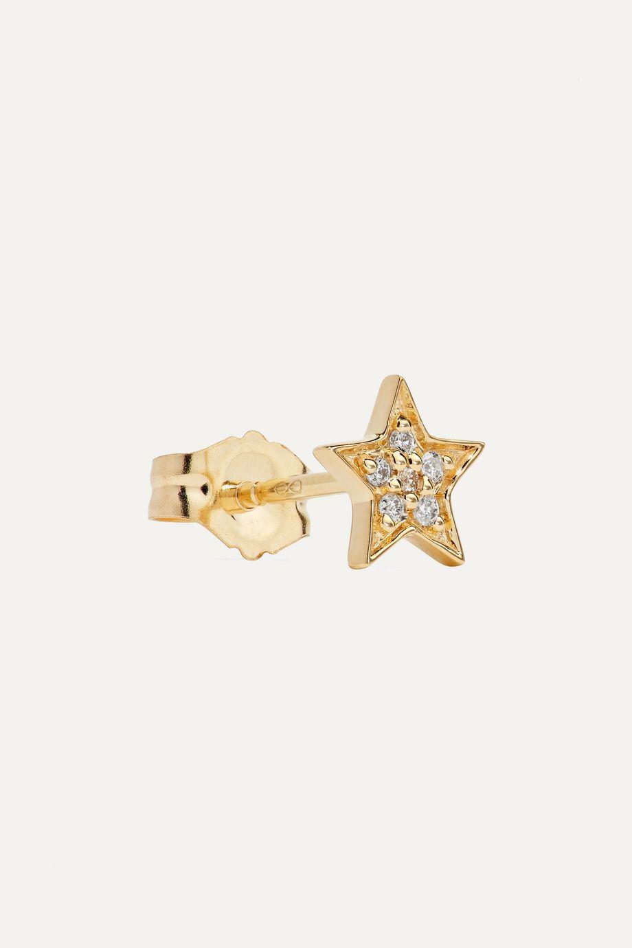 Andrea Fohrman Mini Star 14-karat gold diamond earring