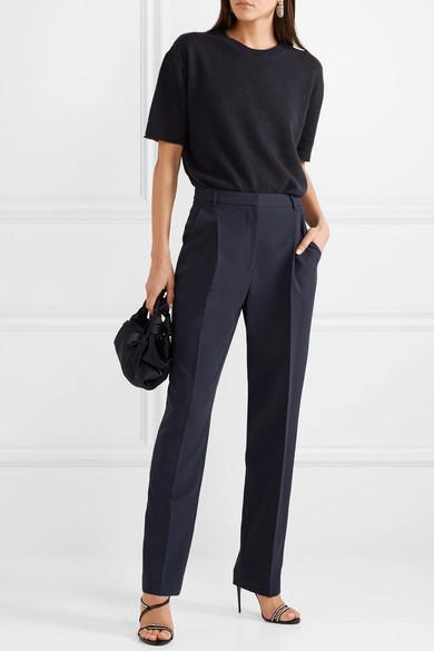 b8261b681252d Sally LaPointe. Pleated stretch-crepe straight-leg pants