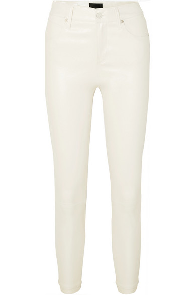 Rta Pants Madrid cropped leather skinny pants