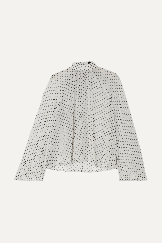 RtA Tennessee gathered polka-dot chiffon blouse