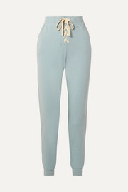 Mason lace-up stretch-Pima cotton and modal-blend track pants