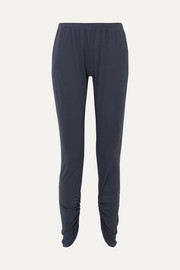Romy Camp ruched Pima cotton-jersey pajama pants