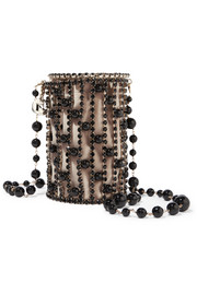 Rosantica Bead and crystal embellished gold-tone shoulder bag