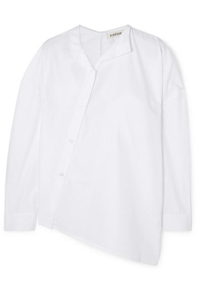 Totême T-shirts NOMA ASYMMETRIC COTTON-POPLIN SHIRT
