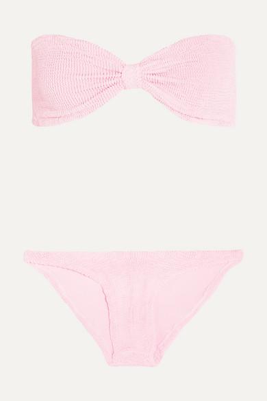 3b040e2965 Hunza G | Jean seersucker bandeau bikini | NET-A-PORTER.COM