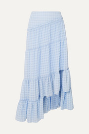 3.1 Phillip Lim Asymmetric tiered seersucker skirt