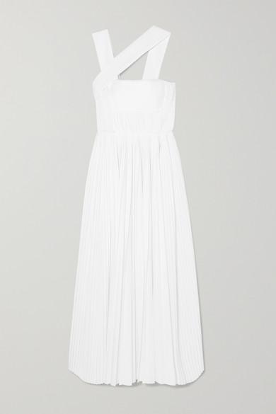Gabriela Hearst Dresses Norah asymmetric pleated cotton gown