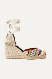 + Missoni Carina 80 canvas wedge espadrilles
