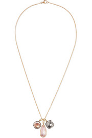 Larkspur & Hawk Lady Emily 14-karat gold and rhodium-dipped quartz necklace