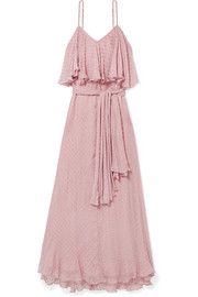 Donatella fil coupé georgette maxi dress