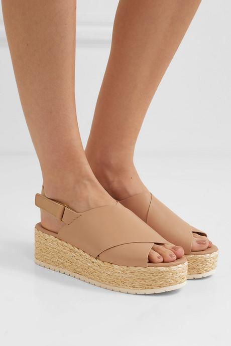 Jesson leather espadrille platform sandals