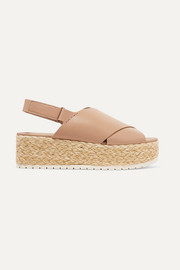 Jesson leather espadrille platform sandals