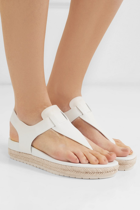 Flint leather espadrille platform sandals