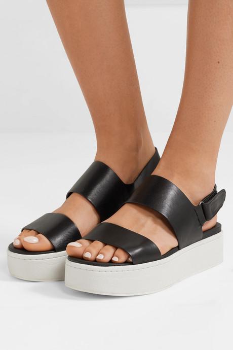 Westport leather platform slingback sandals