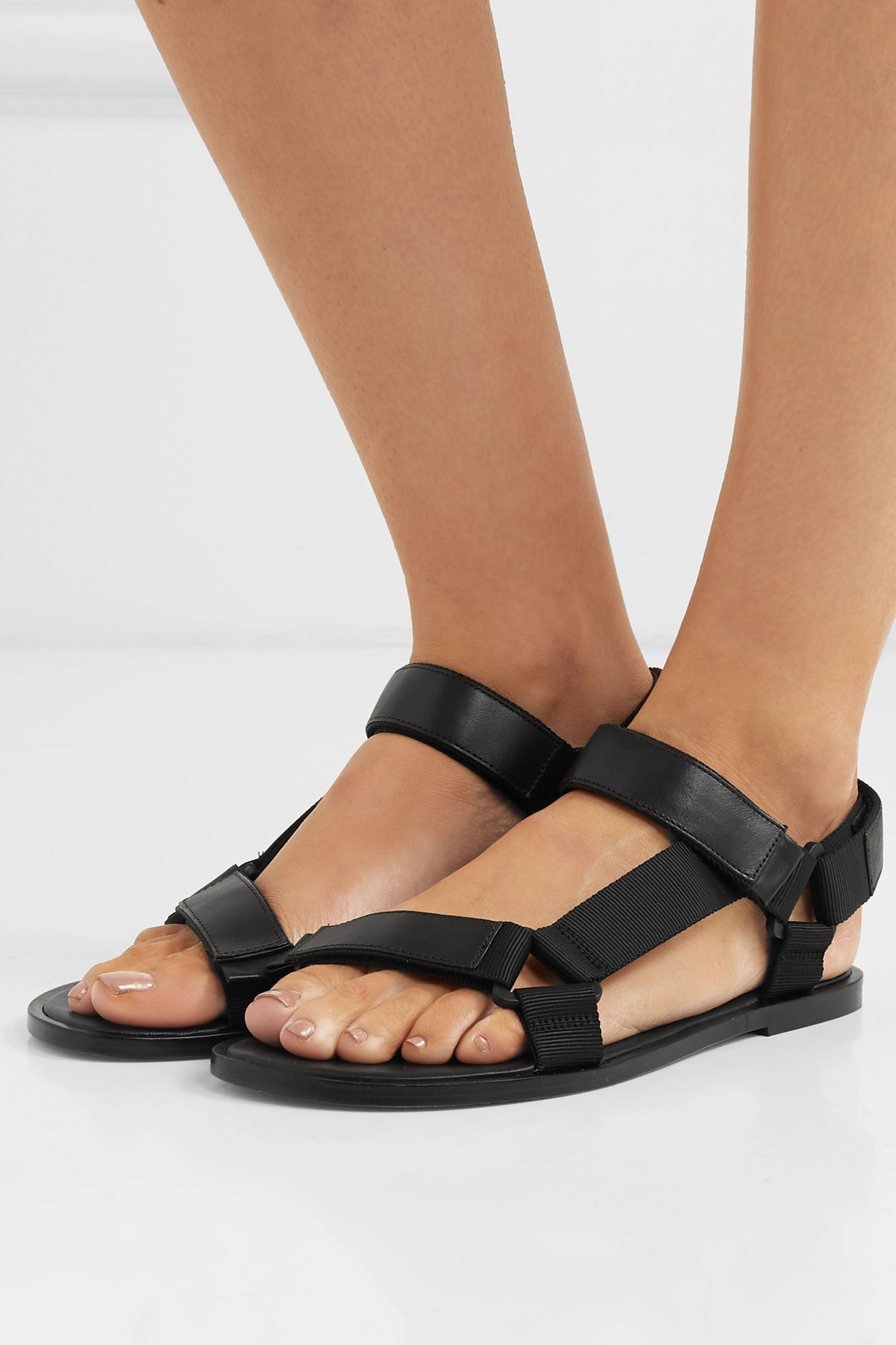 Vince Parks leather and canvas sandals
