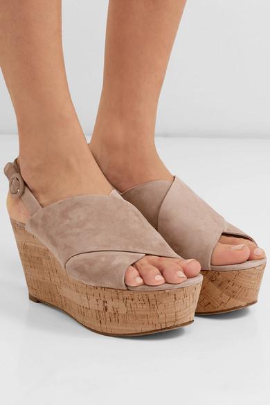 523960746932 Diane von Furstenberg. Juno suede slingback wedge sandals