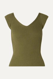 Mara Hoffman Celine ribbed organic cotton top
