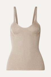 + NET SUSTAIN Tia ribbed Tencel Modal top
