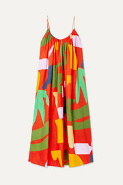 + NET SUSTAIN Fiona printed organic linen maxi dress