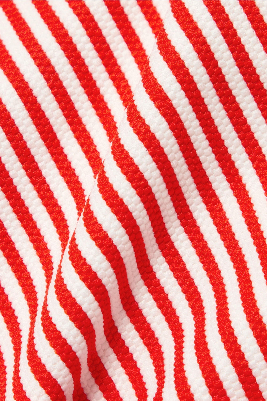 Mara Hoffman Gamela belted striped textured swimsuit