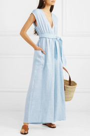 + NET SUSTAIN Whitney striped hemp jumpsuit