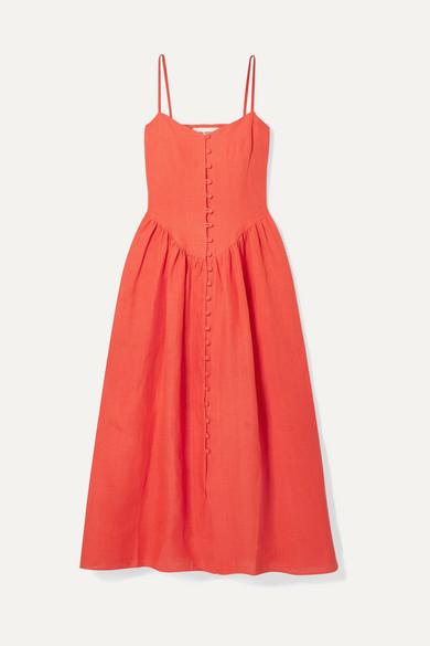 Mara Hoffman Dresses + NET SUSTAIN Mischa gathered hemp midi dress