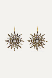 Boucles d'oreilles en or 18 carats et diamants Starburst