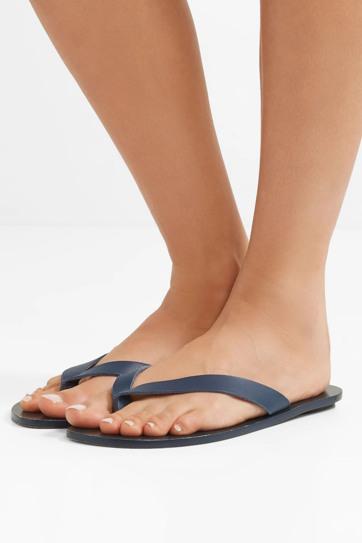 Tibi Bryan leather flip flops