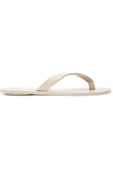 Tibi Slippers Bryan leather flip flops