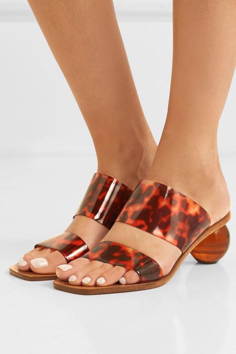 Jila tortoiseshell-effect vinyl sandals