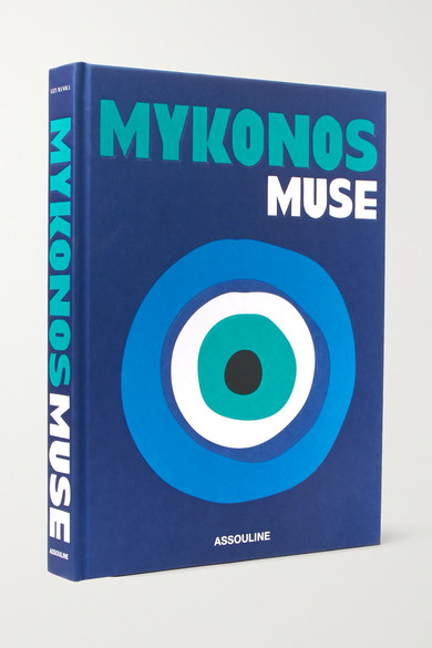 ASSOULINE Mykonos Muse By Lizy Manola Hardcover Book in Blue