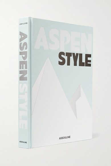 ASSOULINE Aspen Style By Aerin Lauder Hardcover Book in Gray