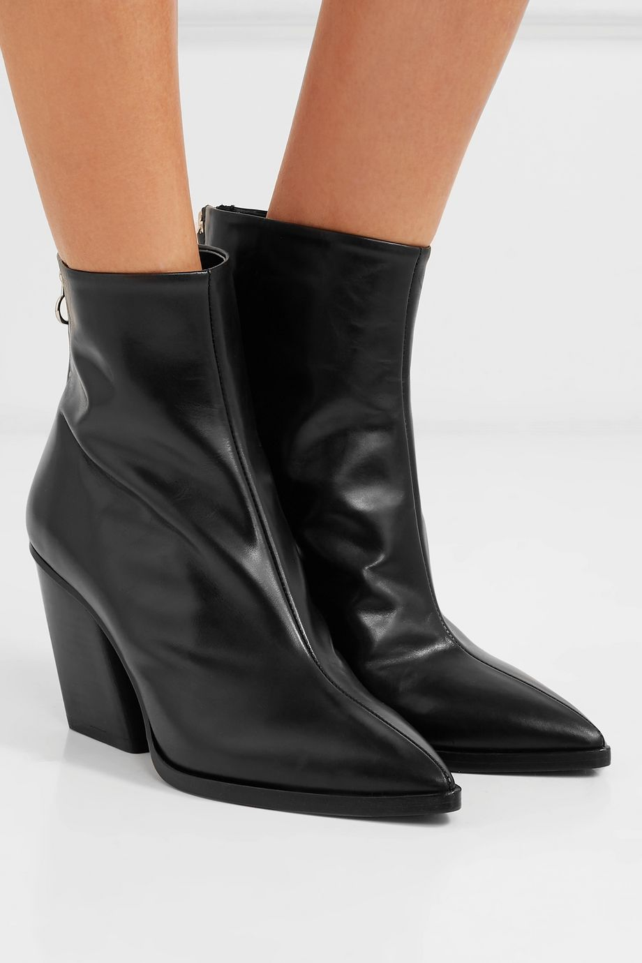 aeydē Cherry leather ankle boots