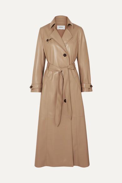 Nanushka Leathers Chiara belted vegan leather trench coat