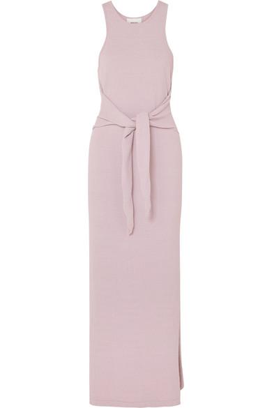 Nanushka Dresses Mame tie-front cotton-blend terry maxi dress
