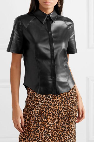 2425a75077f443 Nanushka | Clare vegan leather shirt | NET-A-PORTER.COM