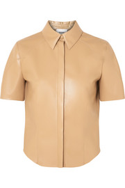 Clare vegan faux leather shirt