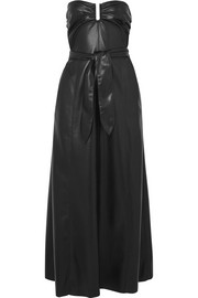Nanushka Anja strapless vegan faux leather midi dress