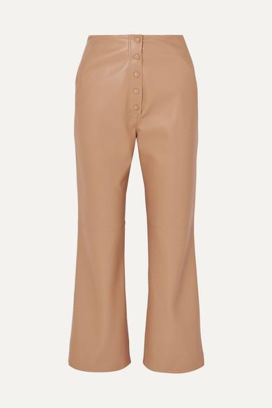 Nanushka Pants Sora vegan leather straight-leg pants