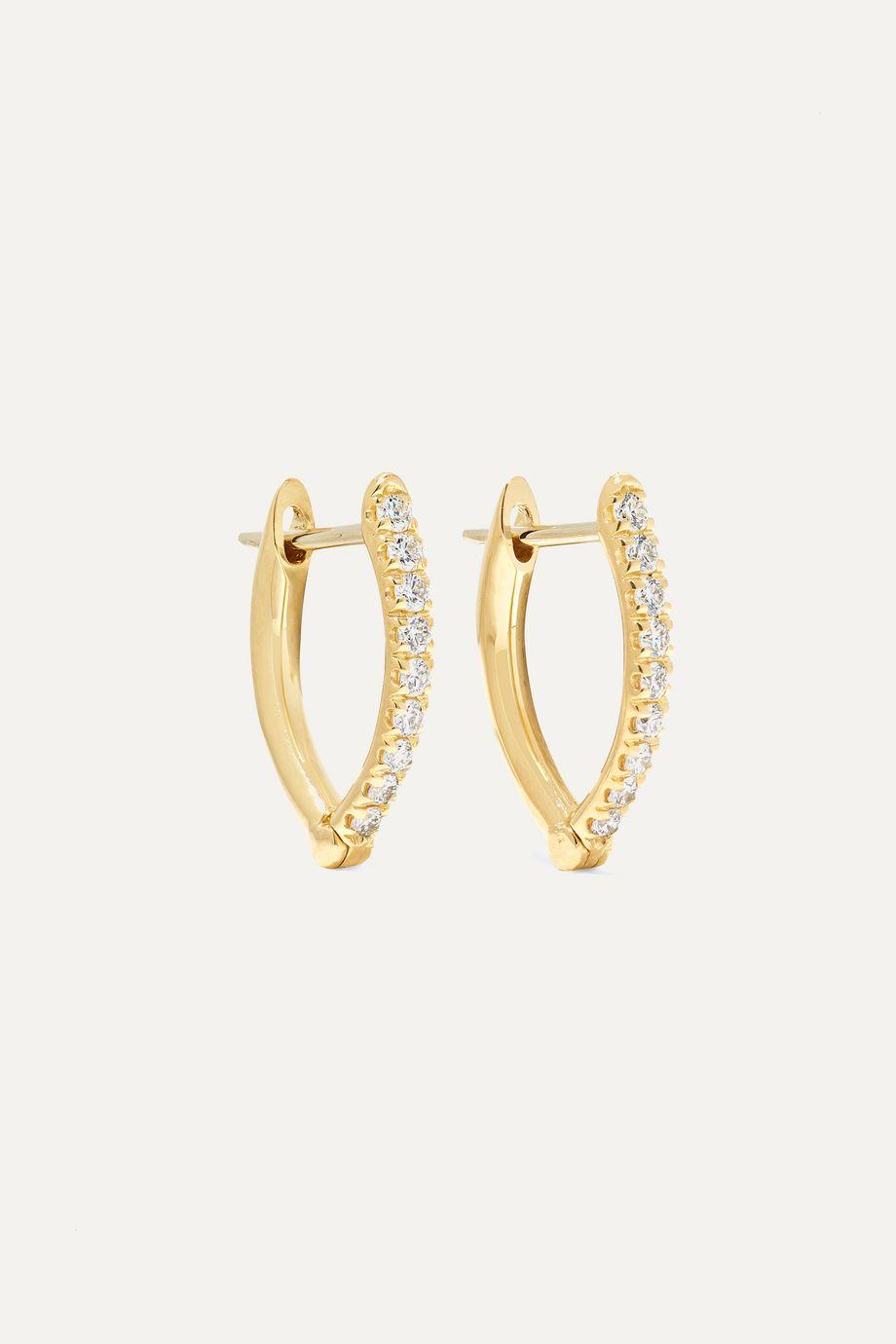 Melissa Kaye Cristina kleine Creolen aus 18 Karat Gold mit Diamanten