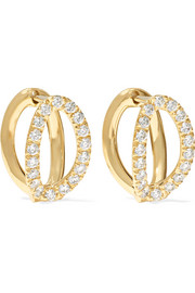 Mila small 18-karat gold diamond earrings