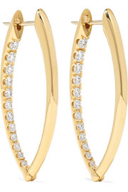 Cristina medium 18-karat gold diamond earrings