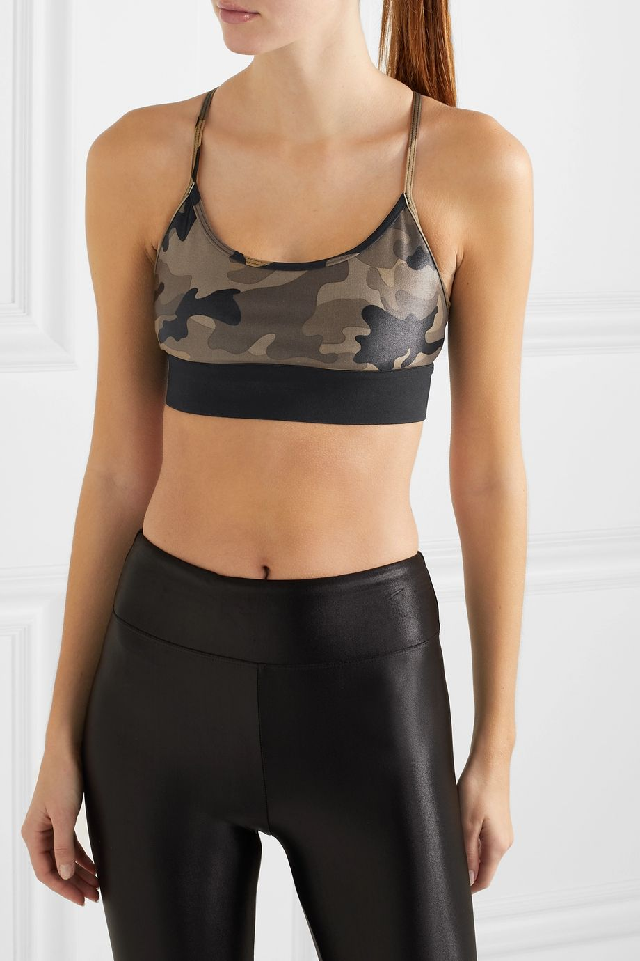 Koral Sweeper printed stretch sports bra