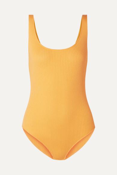 Ribbed Bodysuit Saffron