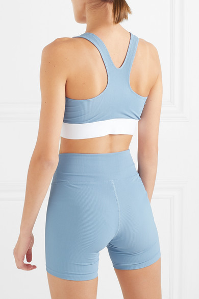 2301bd93b249a Heroine Sport. Two-tone ribbed stretch sports bra.  132.31. Play